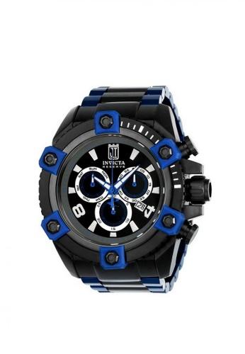 INVICTA black Invicta JT Men 56mm Case  Stainless Steel Strap Dial Quartz Watch 23132 54E72ACA19DCAEGS_1