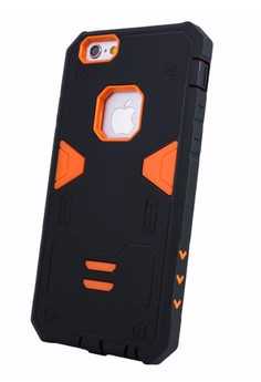 Armor Hybrid Anti Shock Heavy Duty Case for Apple iPhone 6S / 6G 4.7 - Black/Orange