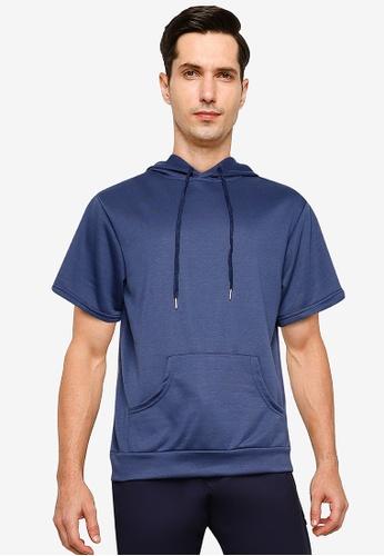 ZALORA BASICS blue Boxy Fit Short Sleeve Hoodie E21A5AA4642323GS_1