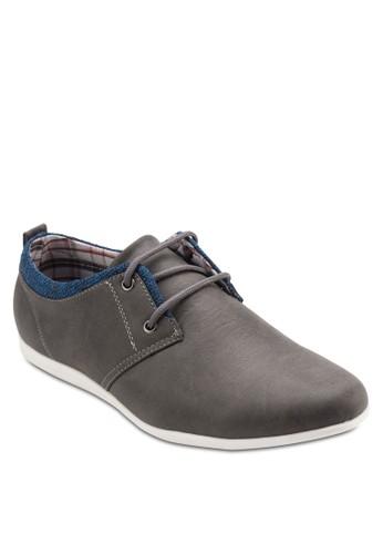 雙眼撞色正式休閒皮鞋, 鞋,esprit台灣網頁 休閒鞋