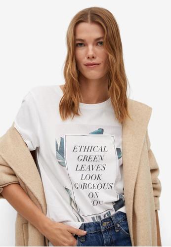 Mango white Message Organic Cotton T-Shirt 1BB93AAF172190GS_1