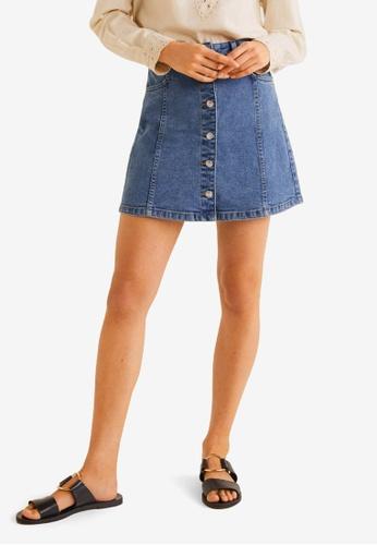 2906dfcf15 Buy Mango Buttoned Denim Skirt Online on ZALORA Singapore