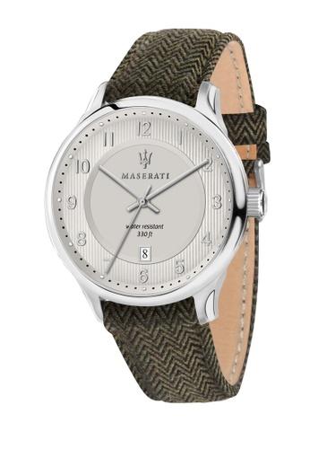 Maserati green Gentleman Quartz Watch R8851136002 Green Leather Strap 1DDF1AC56274ADGS_1
