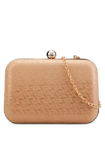 印花珠飾推扣手拿包, zalora 內衣包, 包