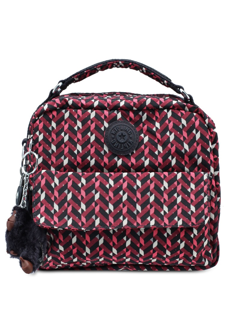 Candy chevron Friday Kipling Backpack Pink Black 0Un0H8O in prodigy