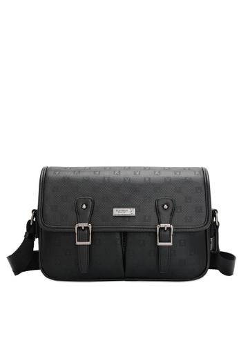 Playboy black Men's Sling Bag / Chest Bag / Crossbody Bag A1A8CAC96854D8GS_1