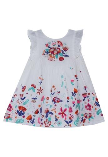 DU PAREIL AU MÊME (DPAM) white White With Rainbow Print Dress 3171DKA128195EGS_1