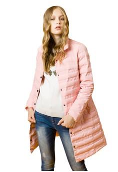 OUWEY歐薇 簡約長版羽絨立領外套