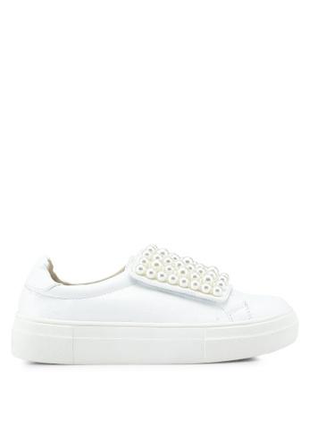 Nose 白色 珍珠飾懶人運動鞋 FEA17SHA3108E3GS_1