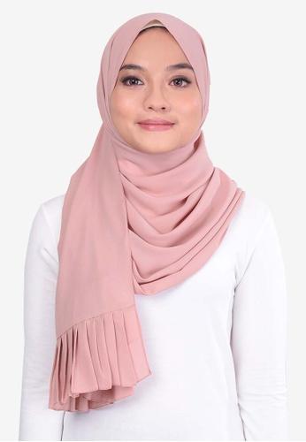 UMMA 粉紅色 褶飾雪紡絲巾 279FEAAA828B3FGS_1