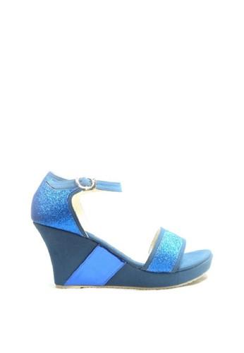 Beauty Shoes blue Beauty Shoes EL139  Avista Wedges Blue 6685ASH9FA5A78GS_1