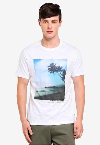 Burton Menswear London 白色 文字印花T恤 ABA66AAC70F363GS_1