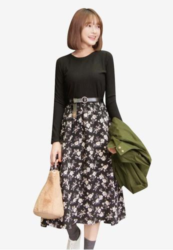 Tokichoi black Wildflower Print Dress 7E779AAA51D7A3GS_1