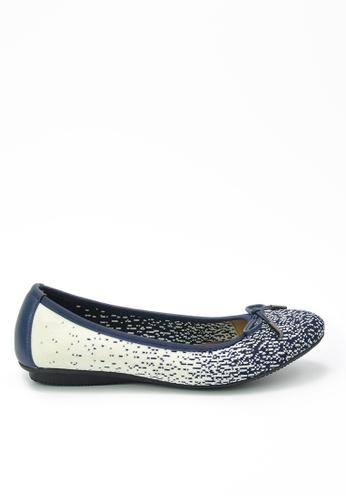 Twenty Eight Shoes blue Knit Flats JD20 E2B61SH2E4F9BEGS_1