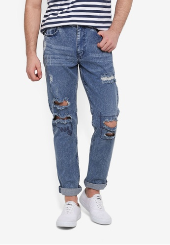 Cotton On 藍色 Tapered Leg Jeans BE1D6AABF2900DGS_1