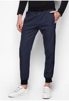 Cotton Twill Pants With Cuffed Hem