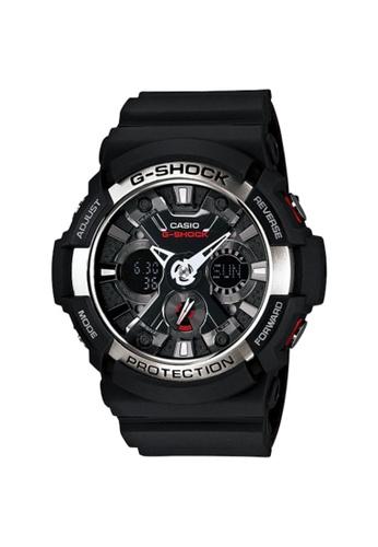 G-SHOCK black Casio G-Shock Men's Analog Watch GA-200-1A Metal Dial with Black Resin Band Sports Watch 4416FAC6D53DD8GS_1