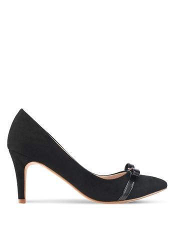Velvet 黑色 蝴蝶結質感高跟鞋 5A03ASH6EE4411GS_1