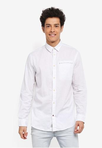 Jack & Jones white Taylor Shirt C1155AACB8333DGS_1