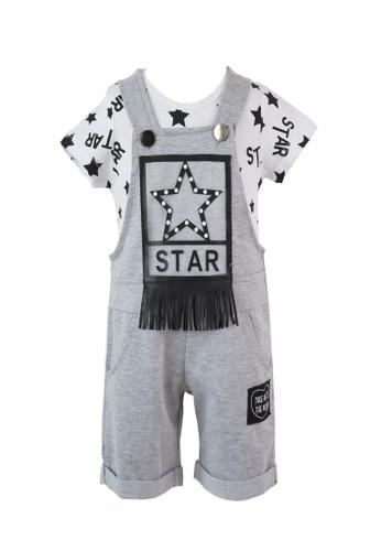 Mini Zo grey Canta Baby Jumpsuit Grey 46975KA46E57CFGS_1