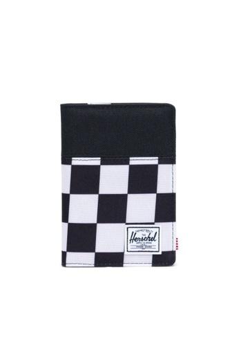 Herschel multi Herschel Raynor Passport Holder Wallet Checker Black/White/Black 4B2C4ACF399B7FGS_1