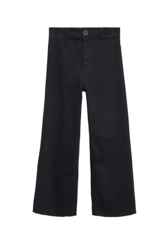 MANGO KIDS grey Cropped Wide-Leg Jeans 35DA5KA3143475GS_1