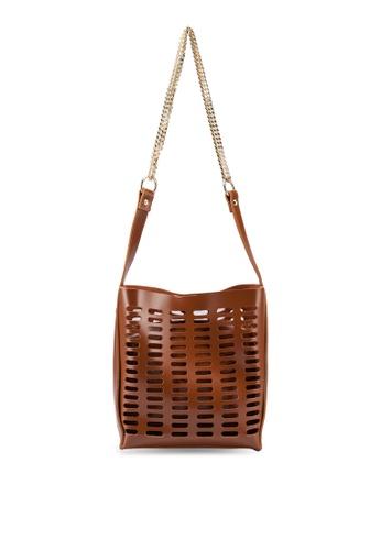 Berrybenka brown Meira Octa Shoulder Bag 8C723ACBB4FAE2GS_1