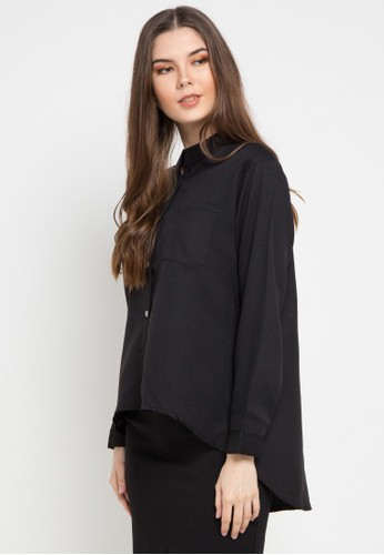 Office Hour black Margerie Blouse F4A08AAB3A4062GS_1