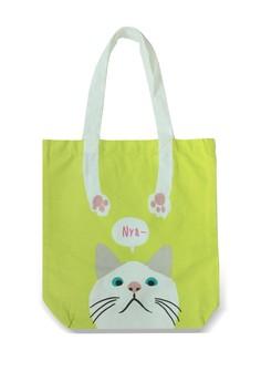 Cat Hands Handle A4 Tote Bag