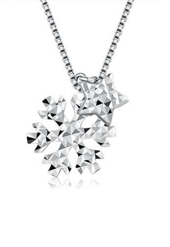 MaBelle silver 14K/585 White Color Gold Stars Pendant Necklace D6A43AC3C90C50GS_1