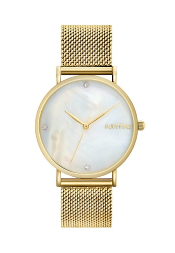 RumbaTime gold Rumbatime Lafayette Mesh Watch, Gold RU023AC2V2OCHK_1