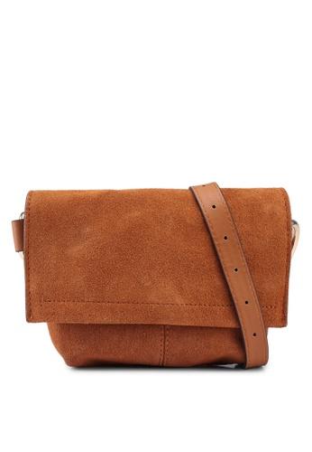 355ac50b Shop Mango Leather Flap Bum Bag Online on ZALORA Philippines