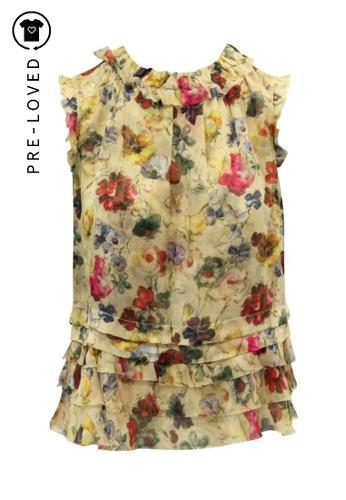D&G multi Pre-Loved d&g Silk Floral Print Sleeveless Shirt 69B27AAD0B1EF3GS_1