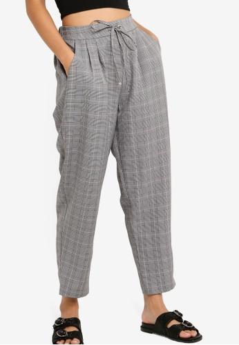 Something Borrowed 黑色 Pleated Straight Leg Pants A3154AABB202C0GS_1