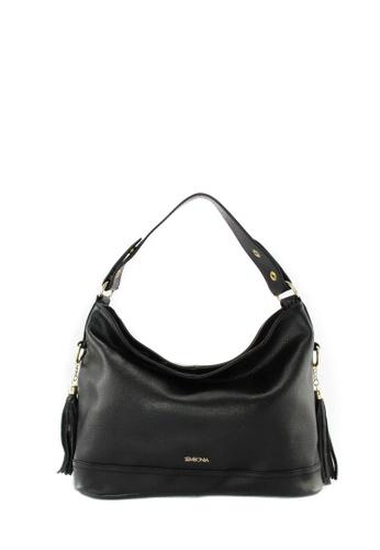 SEMBONIA black SEMBONIA Genuine Leather Hobo Bag SE598AC12TKPMY_1