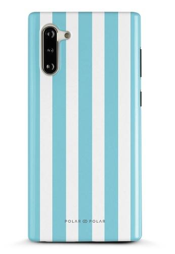 Polar Polar blue Baby Blue Stripe Samsung Galaxy Note10 Dual-Layer Protective Phone Case (Glossy) 0C7D9AC2F5826FGS_1
