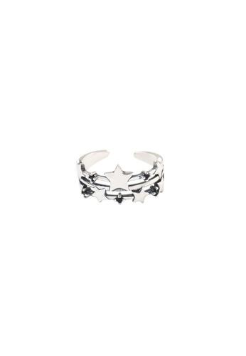 A-Excellence silver Premium S925 Sliver Geometric Ring 461E0AC3ABBA88GS_1