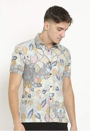 Ornith blue Batik Man Button Up Shirt 48229AA6FFBC42GS_1