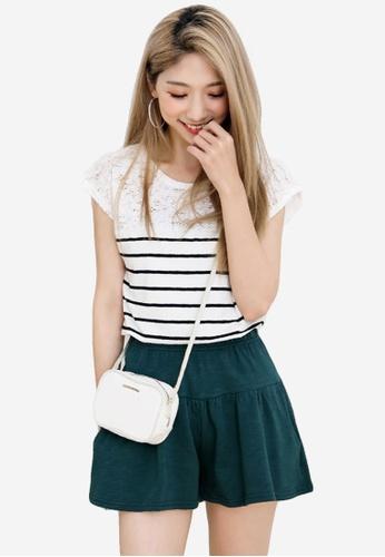 Sesura green Comfy Casual Cotton Culottes 44E97AA8EC4A77GS_1