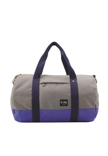 G.ride grey and blue Clement Duffle Bag GR478AC0GKSMSG_1