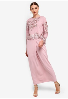 d1604b089ceb Zalia pink Embroidered Lace Double Layer Dress F4174AA97DE90EGS 1