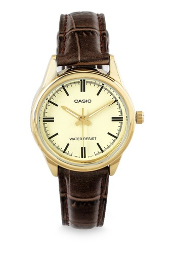 Casio brown Casio Jam Tangan Wanita - Brown Gold - Leather Strap - LTP-V005GL-9A 1BFC9AC837E806GS_1