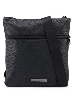 721c83085fc4 Armani Exchange black Geometric Logo Crossbody Bag 3A68BACD45EFECGS 1