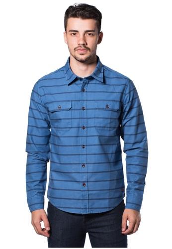 Bum Equipment blue B.U.M Equipment Men Full Art S/S Woven Shirt  (MD. BLUE) BU054AA0RHE6MY_1