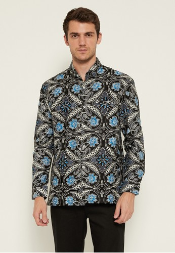 Woffi black Stapleford Batik Shirt 6AA8EAA069CAC0GS_1