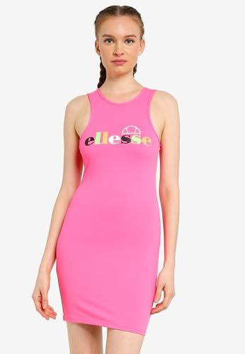 ellesse pink Verde Dress E695CAA2D5FD80GS_1