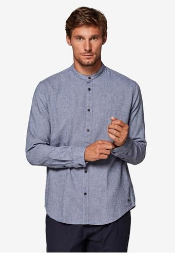 ESPRIT 藍色 長袖襯衫 C02E3AAC608F83GS_1