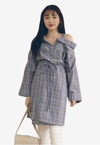 783de3d0ff8a49 Buy Tokichoi Plaid Off-Shoulder Dress Online on ZALORA Singapore