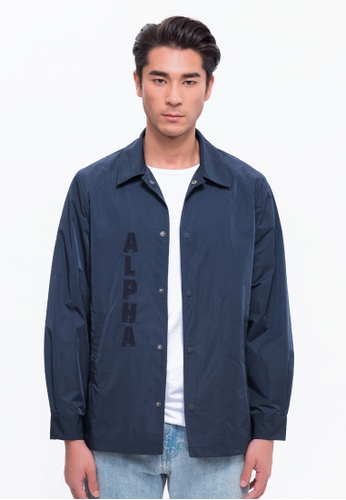 Alpha Style blue Alpha Coach Jacket AL461AA0FVCASG_1