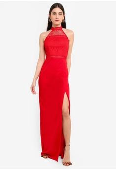 9707333c4d1ba AX Paris red Crochet Neck Maxi Dress 912A3AA6D2B52DGS 1